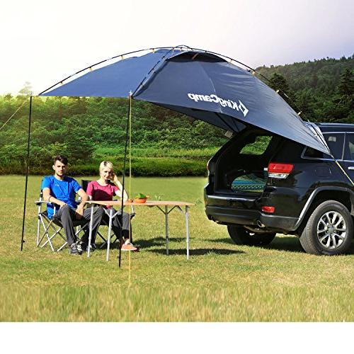 KingCamp Awning Sun Auto Canopy Camper Trailer Tent Roof Top for Beach, SUV, Hatchback, Minivan, Camping, Anti-uv Tents, Waterproof, Portable
