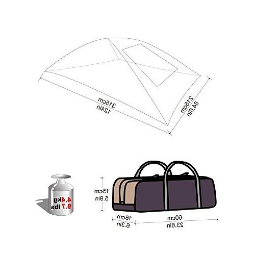 KingCamp Shelter Auto Tent Roof Top Beach, SUV, MPV, Hatchback, Minivan, Anti-uv