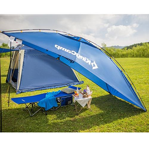 KingCamp Awning Auto Canopy Trailer Tent Roof Top Beach, SUV, Minivan, Anti-uv