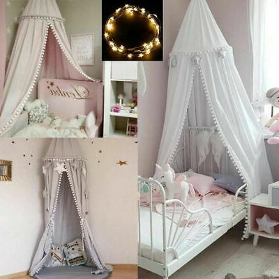 cotton round dome princess bedding hanging canopy