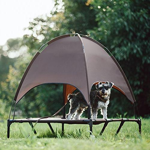 SUPERJARE Outdoor Dog Bed Pet with | for Camping or Beach | Durable 1680D Oxford Fabric