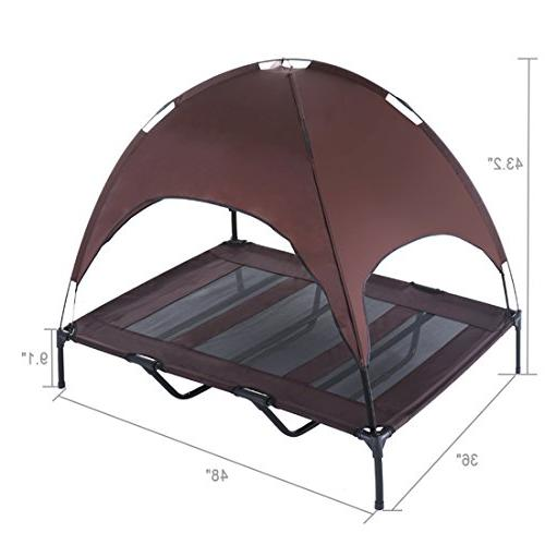 SUPERJARE XLarge Bed Elevated Pet with Canopy for | 1680D Oxford Fabric |