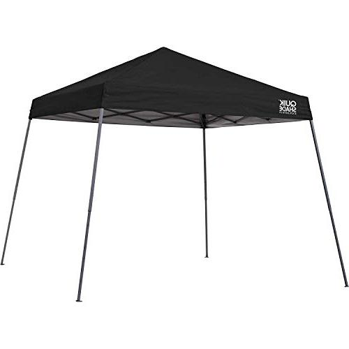 Quik Shade x 10-Foot Slant Leg Outdoor Tent, 64 Square Feet Shade for 8-12 - Black