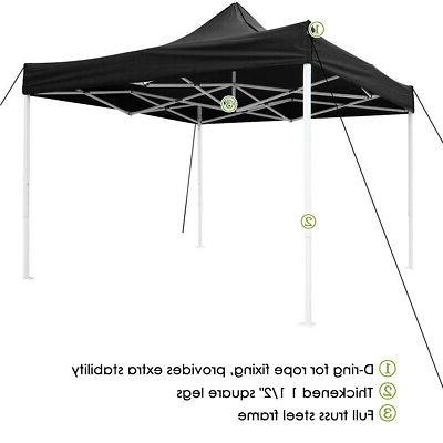 10x10 ft Canopy Instant Gazebo Shade 420D