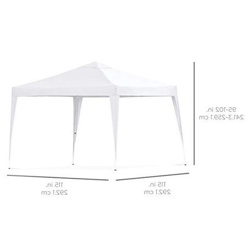 Best Outdoor Adjustable Pop Up Canopy White