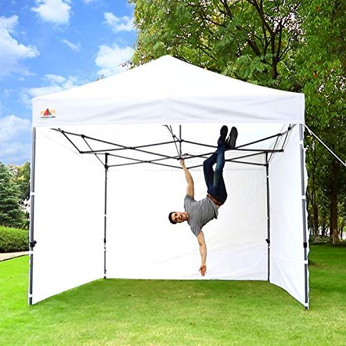 ABCCANOPY 10 x 10 Ez Canopy Commercial Tents Market stall Sidewalls Bonus and 10ft Screen and 10ft Wall