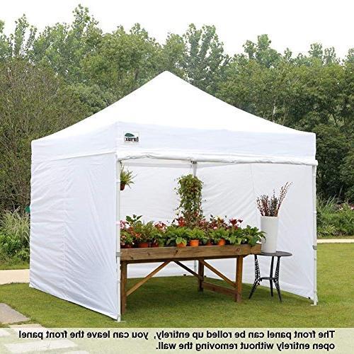 Eurmax 10'x10' Ez Pop-up Canopy Instant Tent with 4 Zipper End and Bonus 4 SandBags