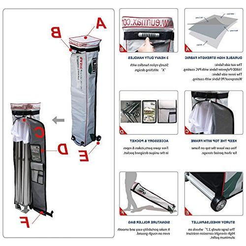 Eurmax 10'x10' Ez Canopy Tent Zipper and Roller Bag, Bonus 4 SandBags