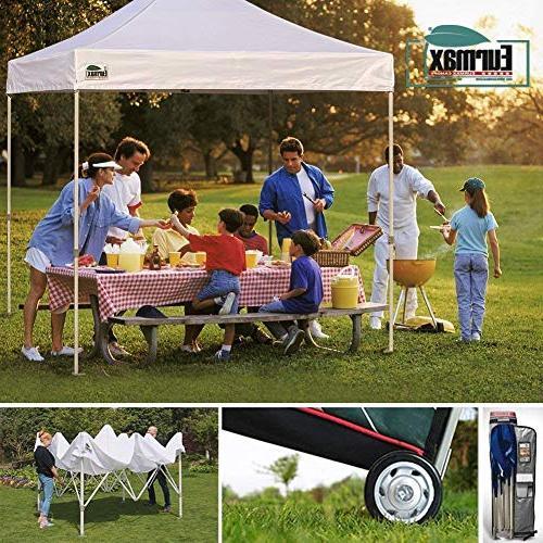 Eurmax 10'x10' Pop-up Canopy Tent Zipper End Walls and 4