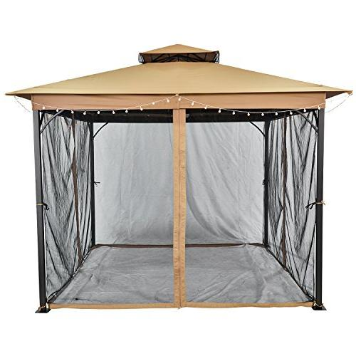 SUNLONO Ft Outdoor 2-Tiered Canopy Mosquito Netting