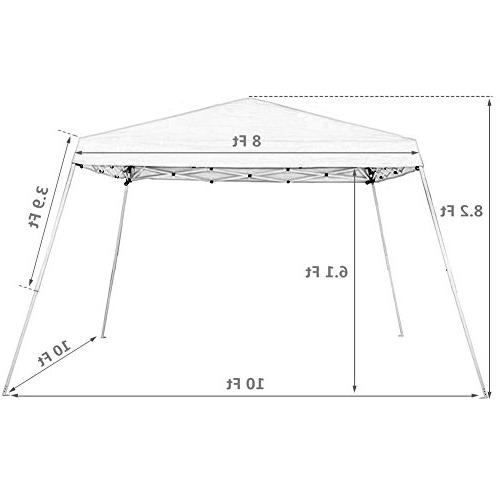 Abba Patio Easy Pop Canopy with Blue