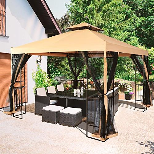 LCH x ft Outdoor 2-Tier Soft Top Canopy, Heavy Duty Frame Shelter