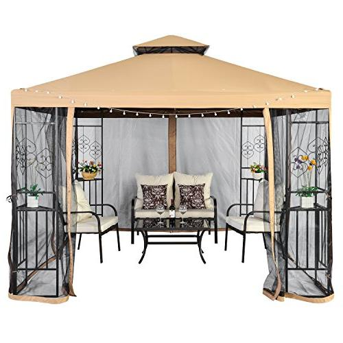 LCH 10 ft 2-Tier Soft Duty Steel Frame Shelter Netting,