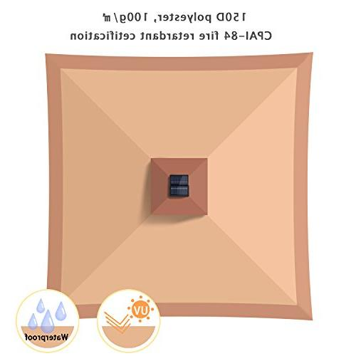 12' x Gazebo Canopy Netting and Solar