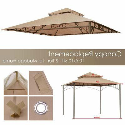 10.6x10.6' Gazebo Top Cover Outdoor Canopy Replacement Patio
