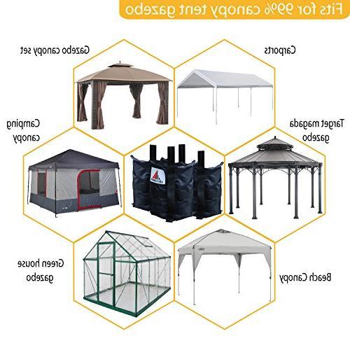 ABCCANOPY Heavy Instant Shelters Gazebo Weight Bags - Set 4-40lb Capacity per