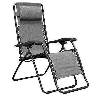Caravan Deck Chair, Grey