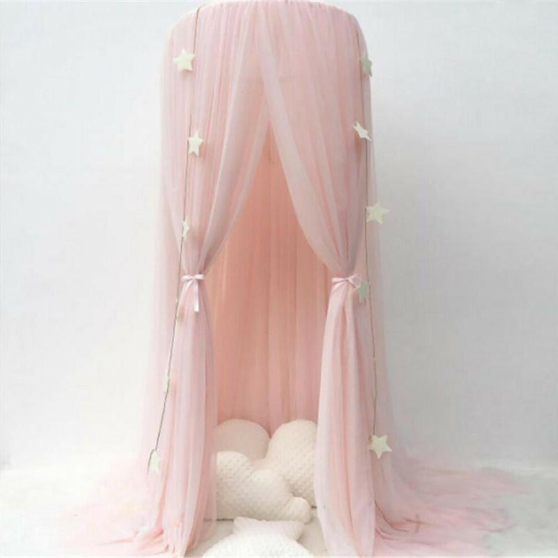kids girls bed canopy bedcover princess curtain