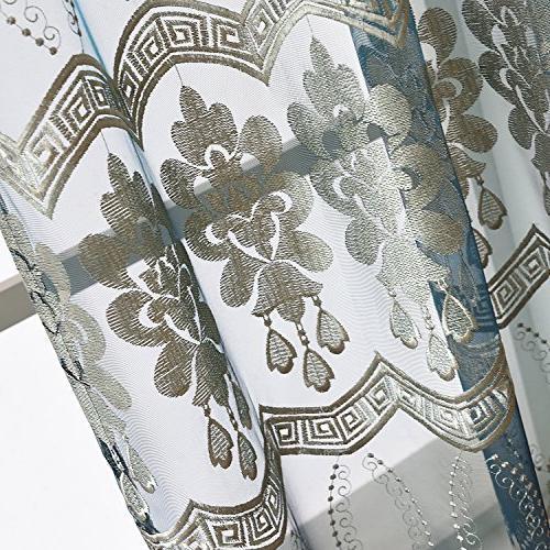 Aside Floral Wave Rod Symmetric Curtains