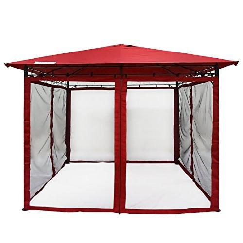 Quictent Gazebo with Mosquito Screened Pergola Soft Gazebo for Patio, Garden Backyard 100%