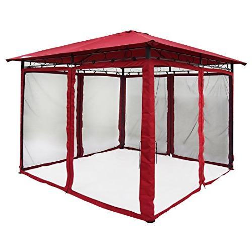 Quictent Gazebo Mosquito Netting Screened Pergola Soft Top Gazebo for Patio, Backyard