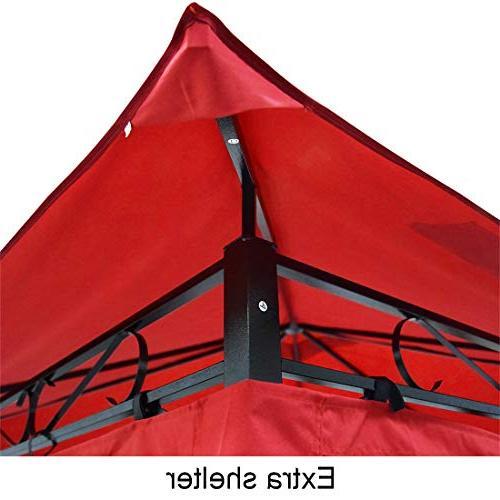 Quictent 10x10 Mosquito Gazebo Canopy Enclosed for Garden Backyard