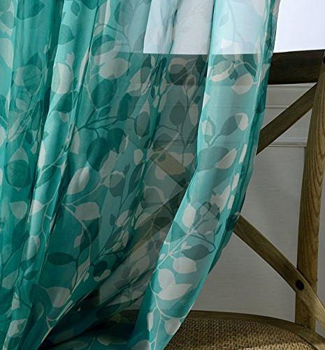 Aside Bside Floral Top Sheer Curtains Draperies Elegant Door Home Treatment and Room