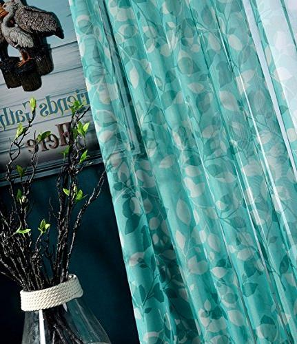 Aside Bside Modern Floral Rod Top Draperies Door Home Treatment for and Children