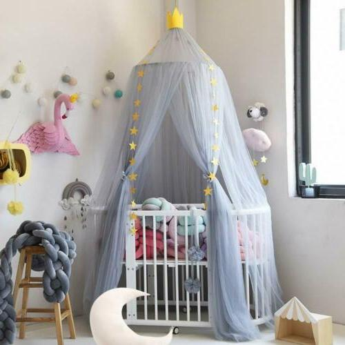Mosquito Net Bed Canopy Tulle Round Net Curtain For