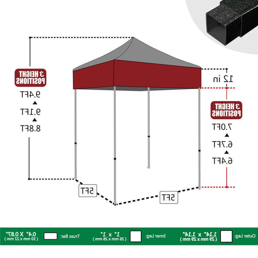 5x5 POP Party Outdoor Event Tent