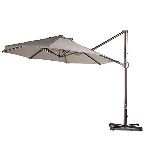 offset cantilever umbrella hanging