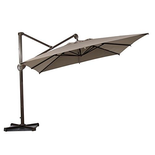 offset umbrella hanging rectangular cantilever