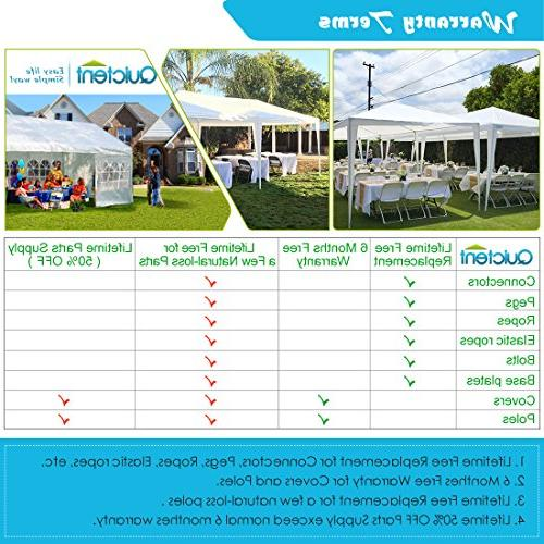 Quictent 10' Party Wedding Gazebo Canopy Side Walls