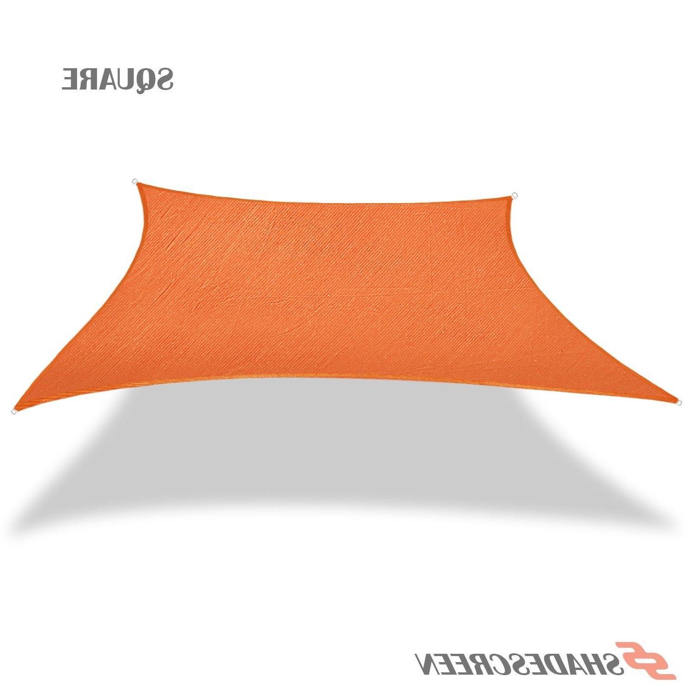 Orange Deluxe Rectangle Sun Shade Sail UV Top Outdoor Canopy