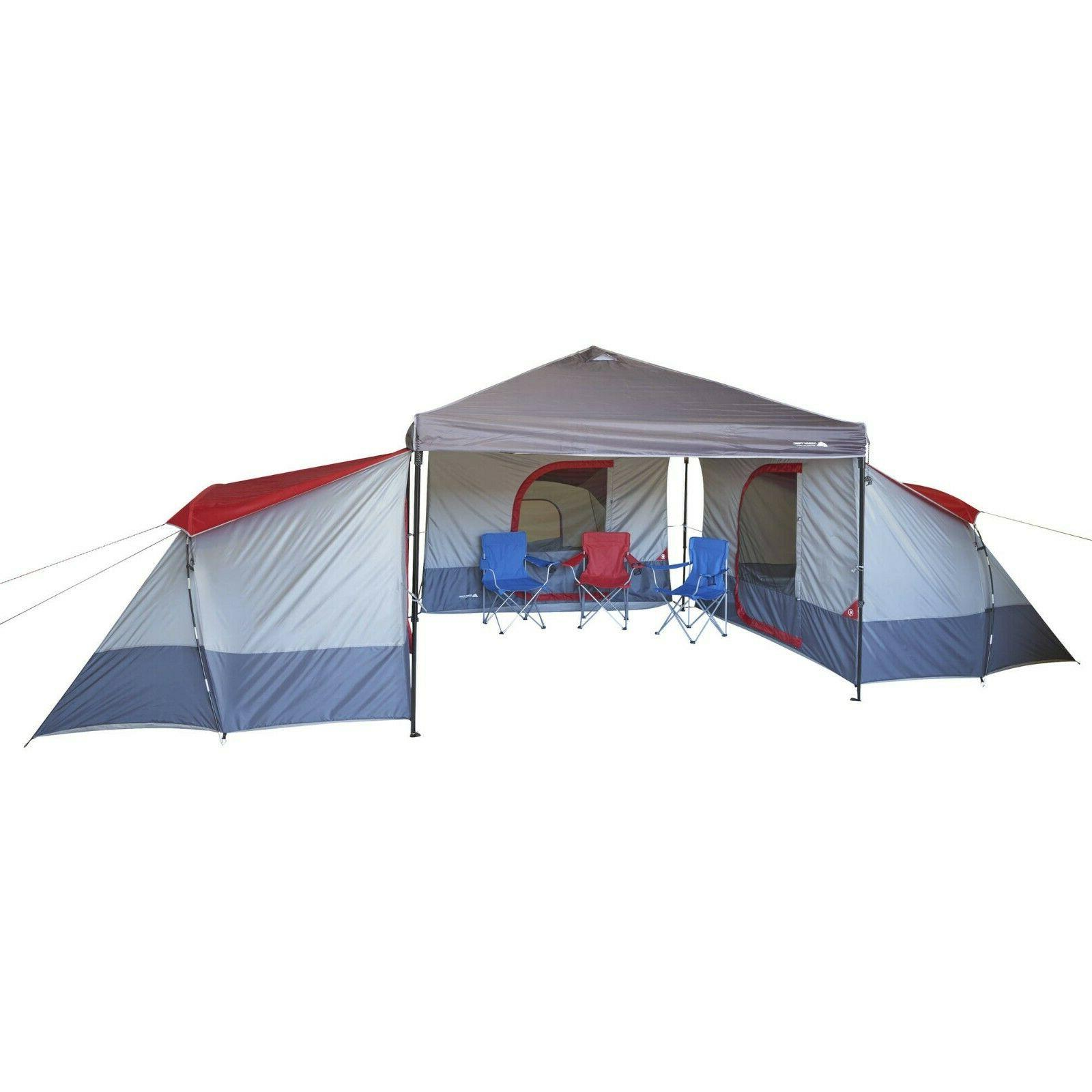 outdoor cabin tent connect canopy 4 person