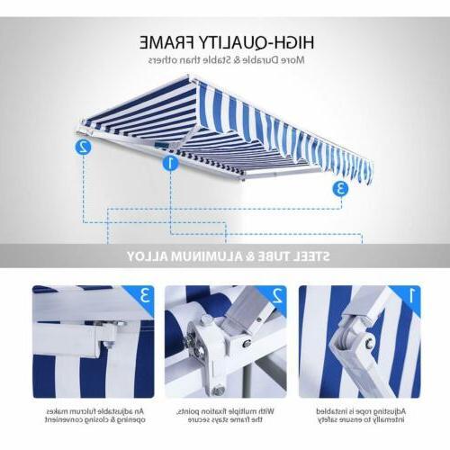 Shade Shelter Patio Canopy Retractable Deck Door