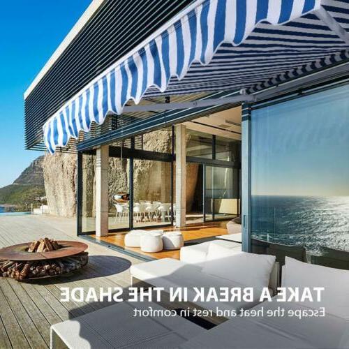 VIVOHOME Outdoor Sun Shade Patio Canopy Retractable