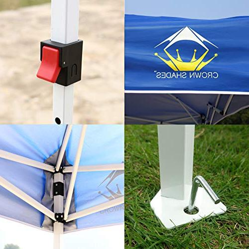CROWN SHADES x 10ft up Portable Folding with Carry Bag,
