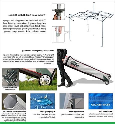 Eurmax 10 10 Pop Instant Canopy Foot Commercial Grade Roller Bag