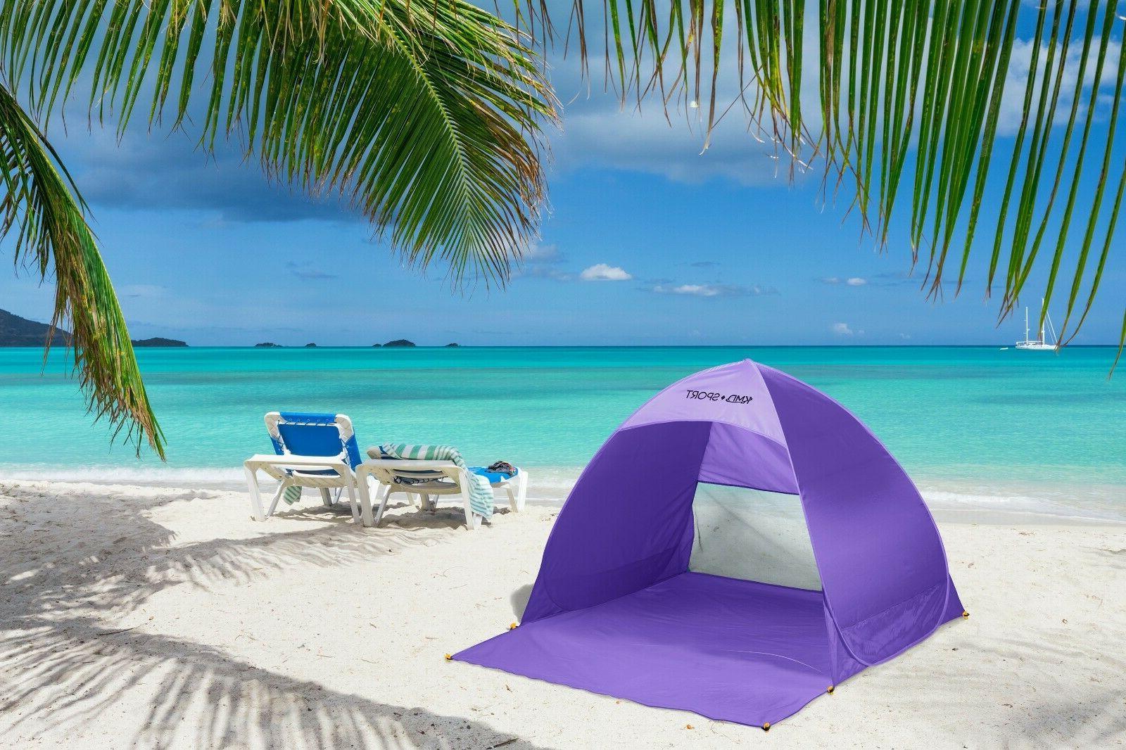 Portable Sun Shade Outdoor Purple