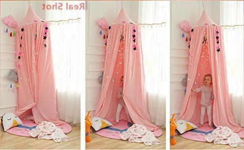 LEDUNUS Princess Bed Mosquito Baby Play Decoration Reading Nook Canvas
