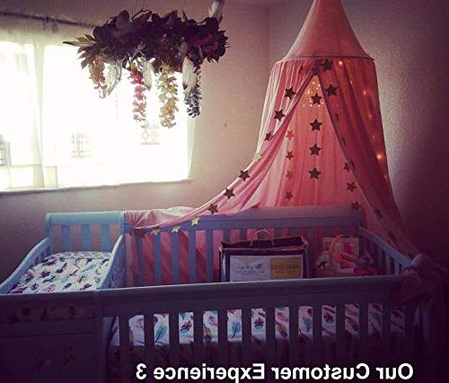 LEDUNUS Princess Mosquito Net for Baby Round Kids Play Decoration Canvas Height