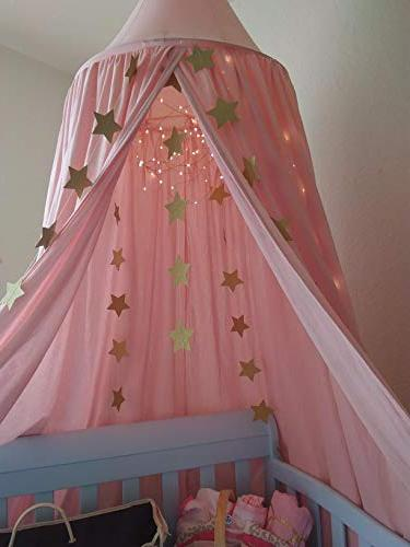 LEDUNUS Princess Bed Mosquito Net Baby Kids Indoor Play Hanging House Decoration Nook Canvas