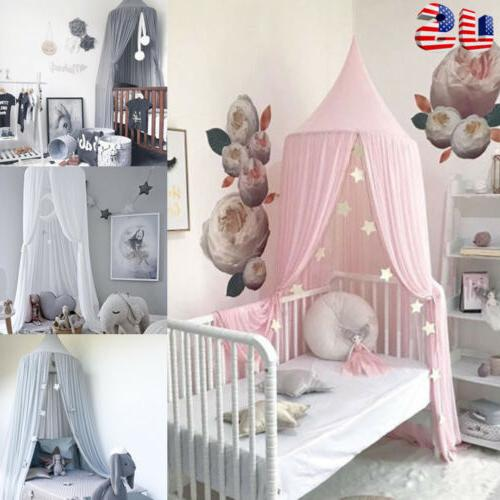 Princess Bed Kids Hanging Lace Mosquito Net Crib Curtain Bedding