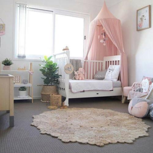 Princess Bed Canopy Hanging Dome Lace Mosquito Net Crib Bedding