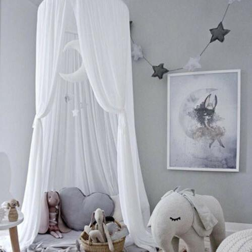 Princess Kids Canopy Hanging Lace Net for Crib Bedding