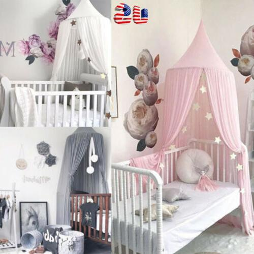 princess bed kids canopy hanging dome lace
