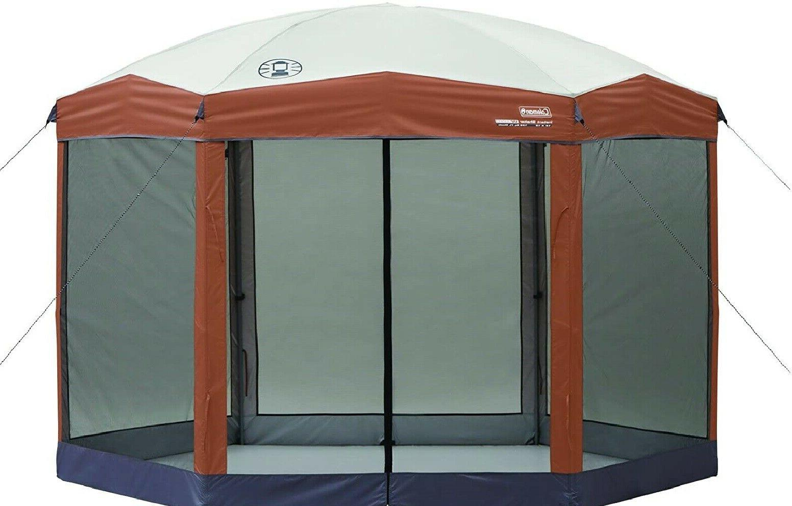 screened canopy tent with instant setup screen