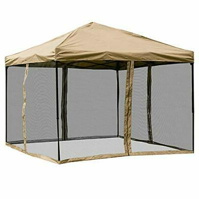 screened pop up canopy tent 10 x