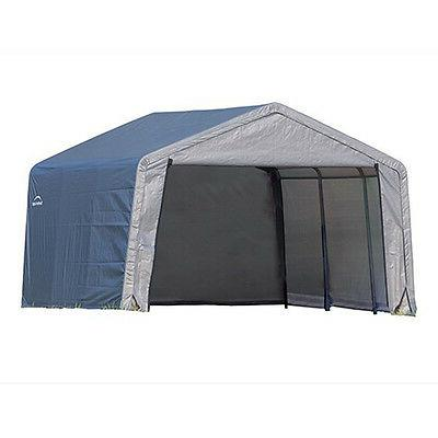 ShelterLogic 8' x Shed-in-a-Box All Season Metal Storage with Cover and Duty Reusable